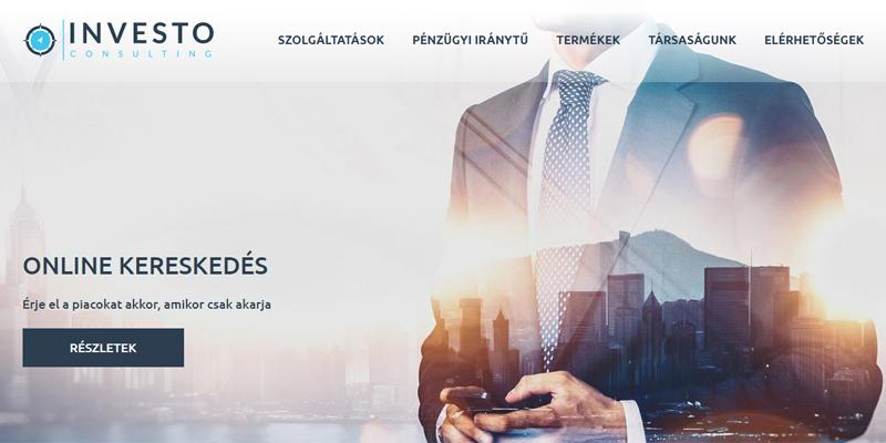 Investo Consulting céges weboldala