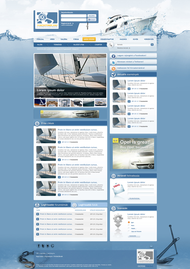 Yachting internetes hajós magazin