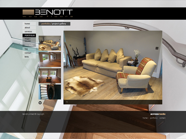 Benott Wood Floors weboldal