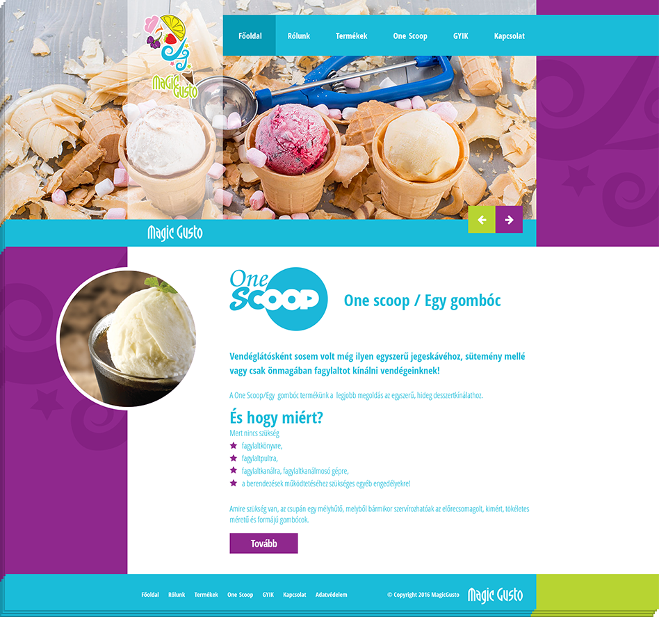 Magic Gusto brandsite