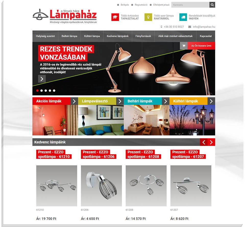 81b2cc15a3 Lámpaház.hu webshop – webáruház-készítés | Across Média