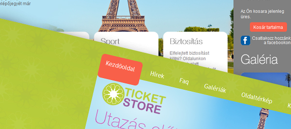 Ticket Store - webdesign, build, programozás, cms