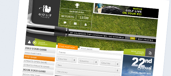 Golf Faces - arculattervezés, webdesign