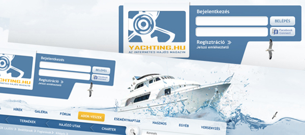 Yachting - webdesign, build, programozás, cms