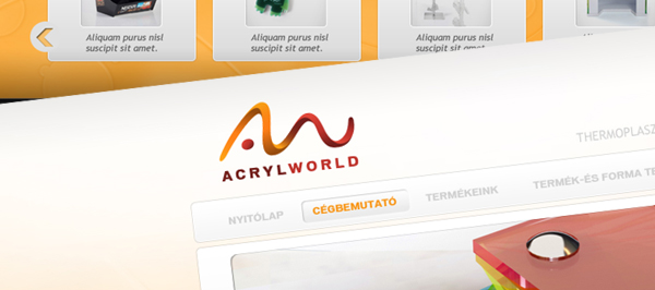 Acryl World - webdesign, build, programozás, cms