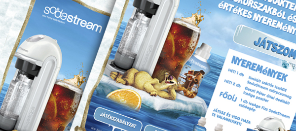 Sodastream Ice Age 4 - webdesign, build, programozás