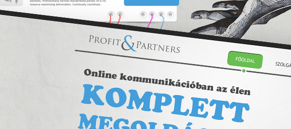 Profit & Partners - webdesign, build, programozás, cms